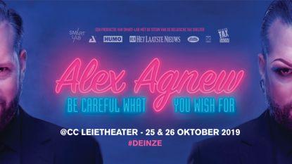 Alex Agnew komt naar Sportoase
