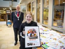 Eeuwige roem voor 12-jarige Kim uit Beuningen: haar ontwerp siert straks baby-olifant