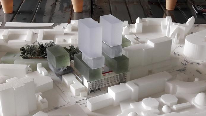 Plan voor VDMA aan de Vestdijk in Eindhoven, gezien vanaf de binnenstad