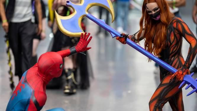 IN BEELD. Cosplayers naar New York voor eerste Comic Con sinds corona