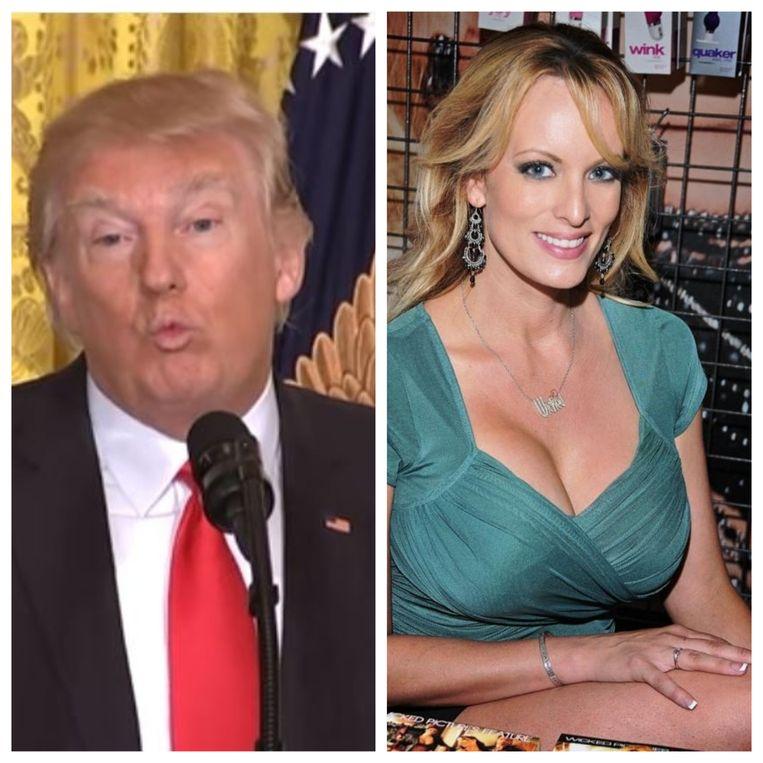 Donald Trump zou in 2006 maandenlang een affaire hebben gehad met pornoster Stormy Daniels (Stephanie Clifford in het echte leven). In 2011 was ze daarover openhartig in een interview dat bijna zeven jaar in de kast bleef liggen. Beeld Photonews, AP