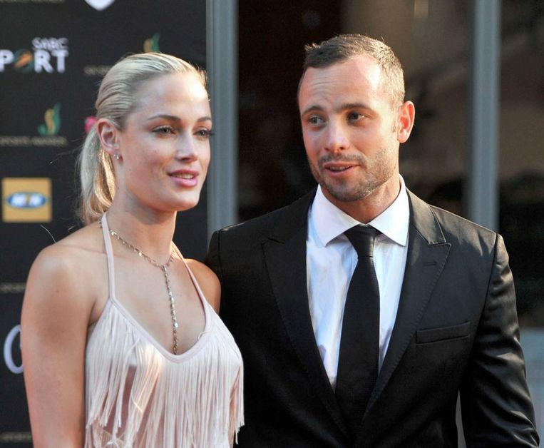 Reeva Steenkamp en Oscar Pistorius Beeld epa