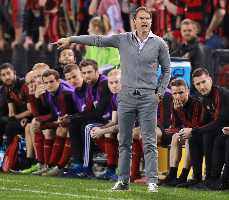 Frank de Boer coacht zijn Atlanta United. Beeld AP