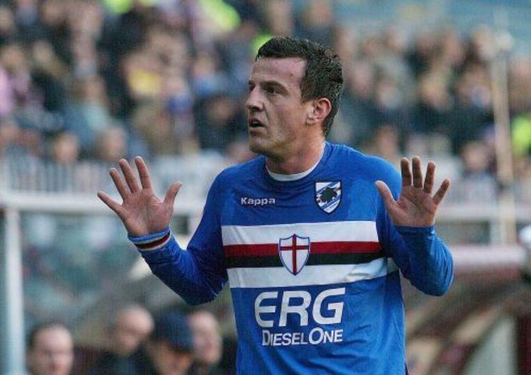 Francesco Flachi tijdens zijn periode bij Sampdoria. ANP Beeld