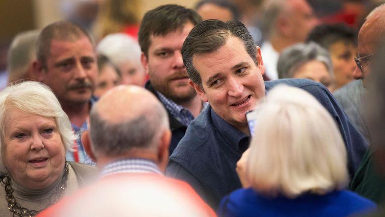 Senator Ted Cruz op campagne in South Carolina waar hij aanhangers van de Tea Party toesprak Beeld AFP