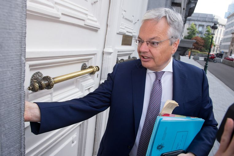 Didier Reynders, voorzitter van de Brusselse MR.