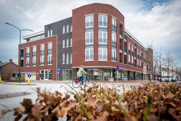 Nieuw appartementencomplex Poort van Eersel, aan de kop van de Nieuwstraat in  Eersel.