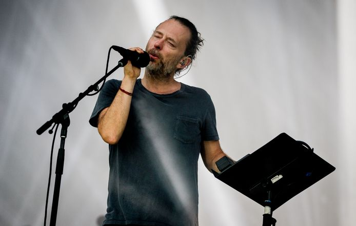 De Britse band Radiohead met leadzanger Thom Yorke