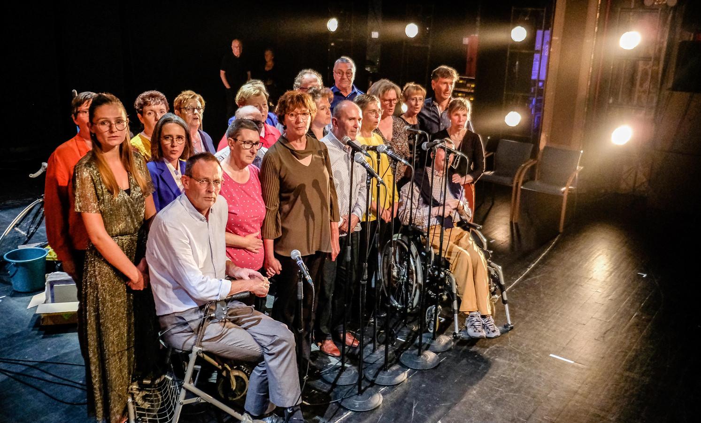 De ploeg achter theaterproductie De Loteling.