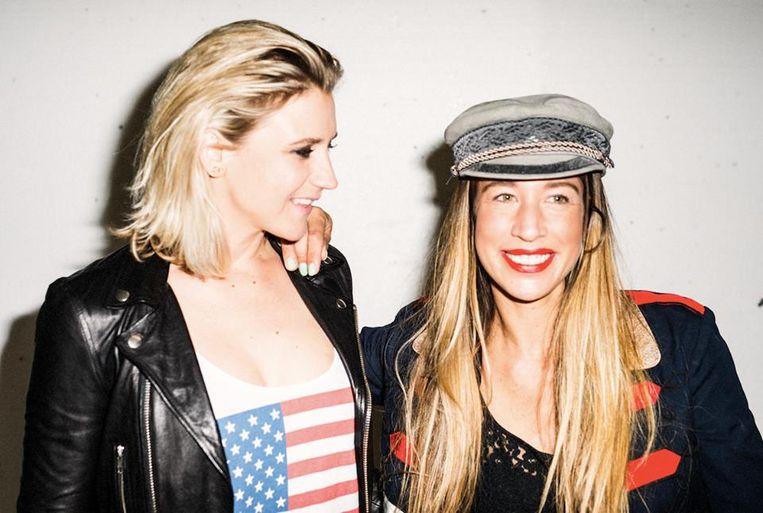 Tess van Zwol (links) en Claire Slootheer van dj-duo Cat Carpenters Beeld Eigen foto