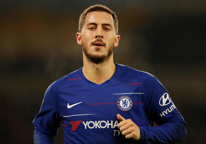 Hazard in actie namens Chelsea.