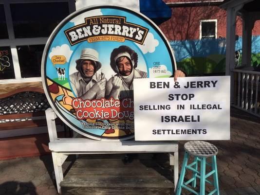 Tegen de verkoop in de bezette gebieden werd al eerder geprotesteerd.