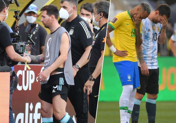 Messi kwam uit de kleedkamer in een fotografenoutfit.