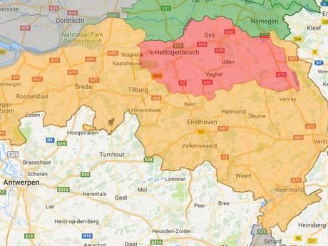 Alleen in Brabant-Noord nog code rood voor natuurbrandgevaar