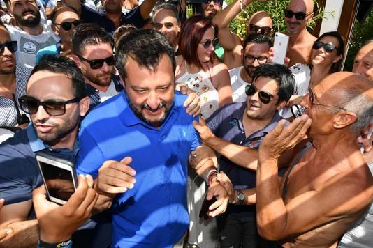 Voor Matteo Salvini is de verkiezingscampagne al lang begonnen.