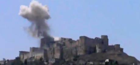 Beroemde fort Krak des Chevaliers beschadigd door bommen