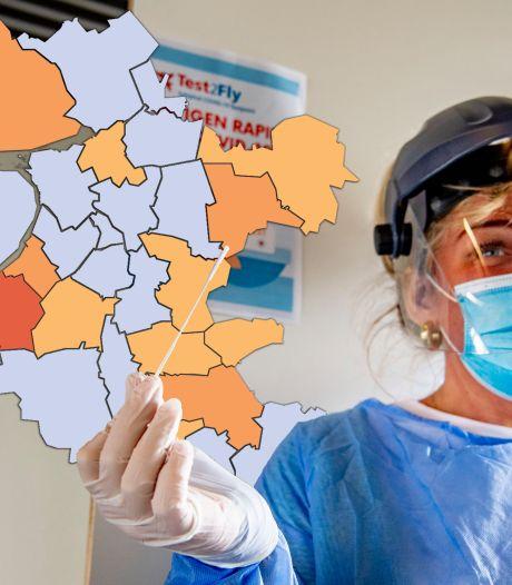 KAART | Hoogste besmettingsgraad in Nunspeet, flinke stijging positieve tests in Noordoostpolder