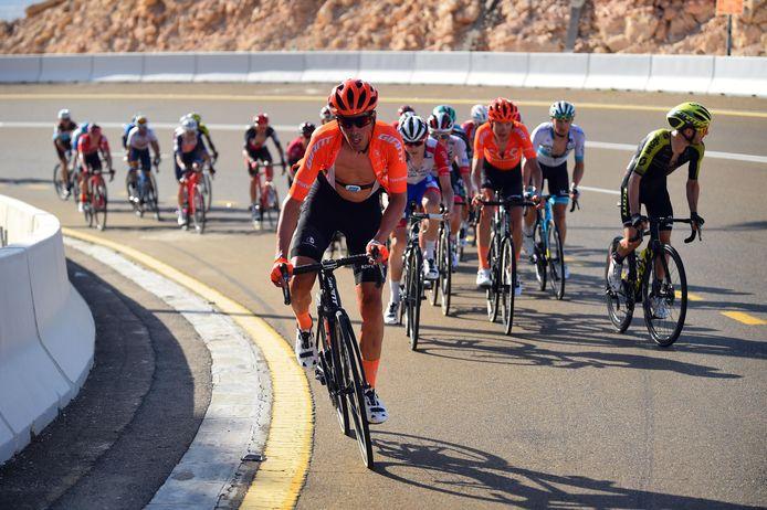 Victor de la Parte aan de slag in de UAE Tour, begin dit seizoen.