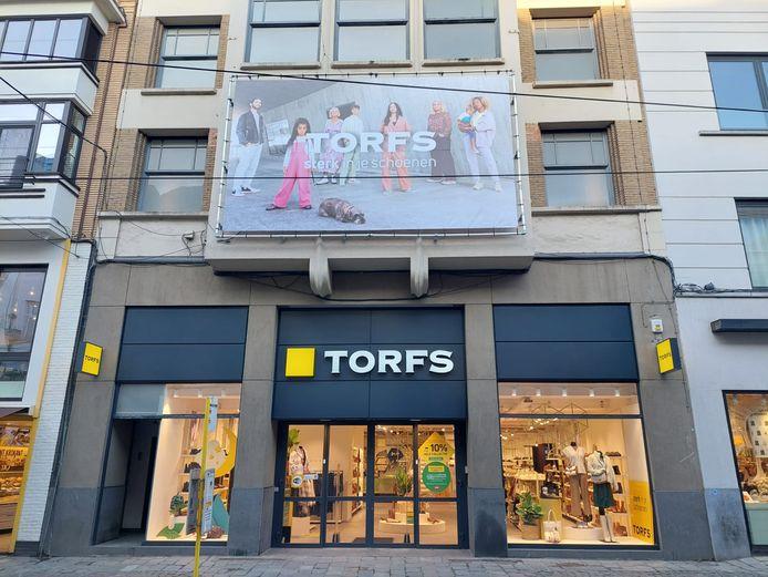 De nieuwe Torfs-winkel in de Veldstraat in Gent.