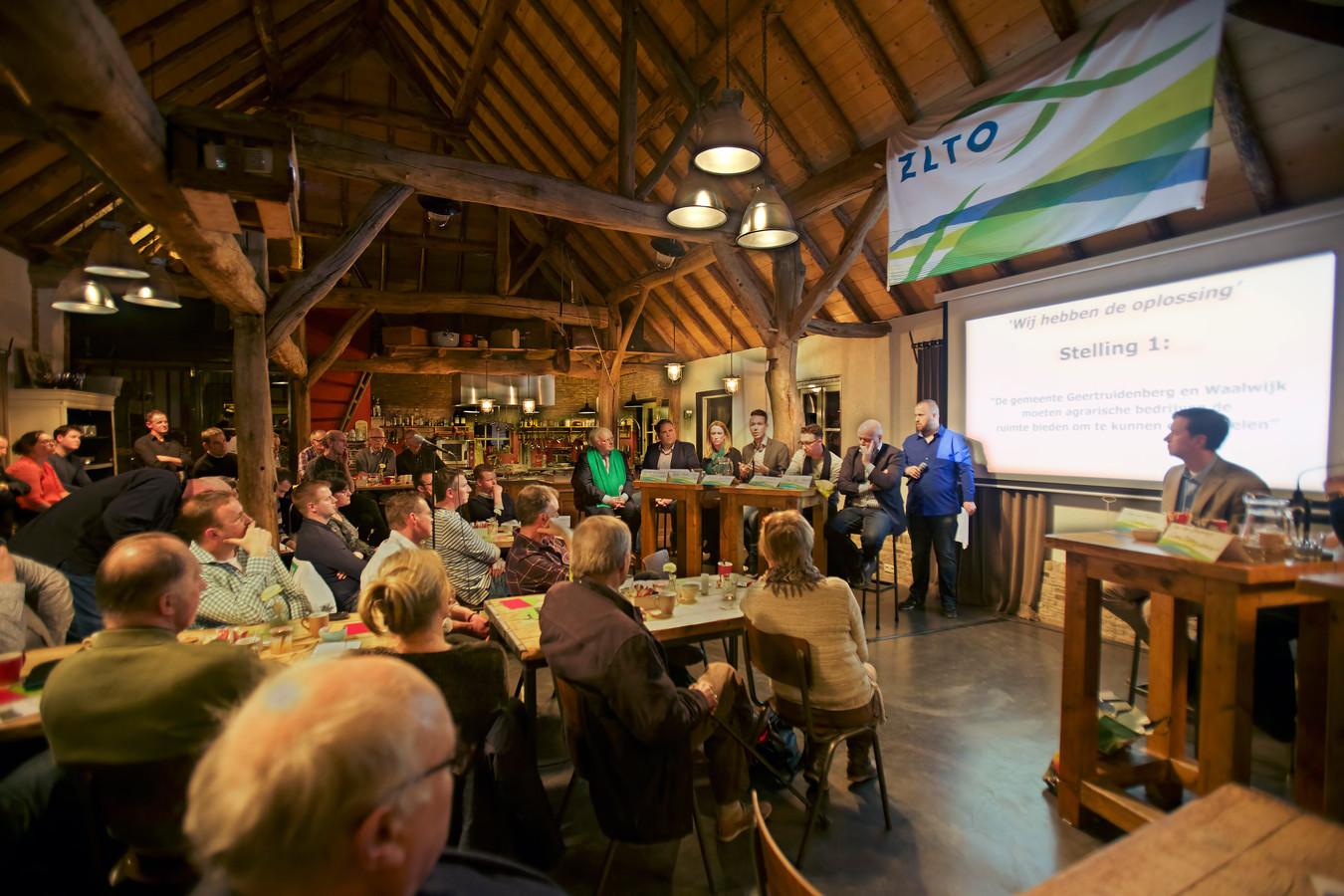 Politiek debat van ZLTO, afdeling Waalwijk en Geertruidenberg, bij De Stek in Raamsdonksveer.