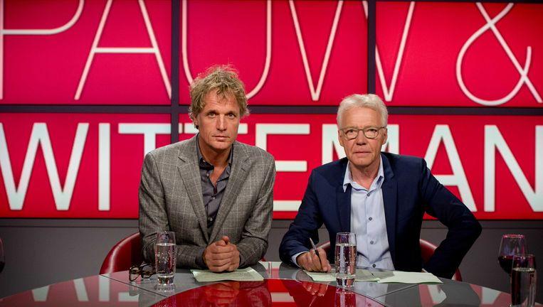 Presentatoren Jeroen Pauw en Paul Witteman houden er na acht jaar mee op. Beeld ANP