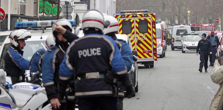 Agenten in Parijs. Beeld ap