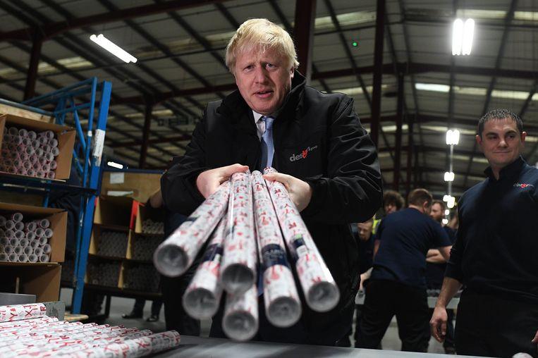 Boris Johnson is op campagne in Leeds. Beeld Photo News