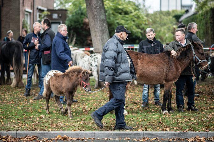 De jaarlijkse Paardenmarkt in Wijchen, hier in 2019. Net als in 2020 gaat het evenement dit jaar wegens corona niet door.