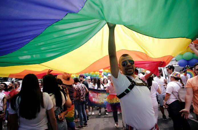 Archiefbeeld van 23 juni 2019: de jaarlijkse Gay Pride in San José, de hoofdstad van Costa Rica.