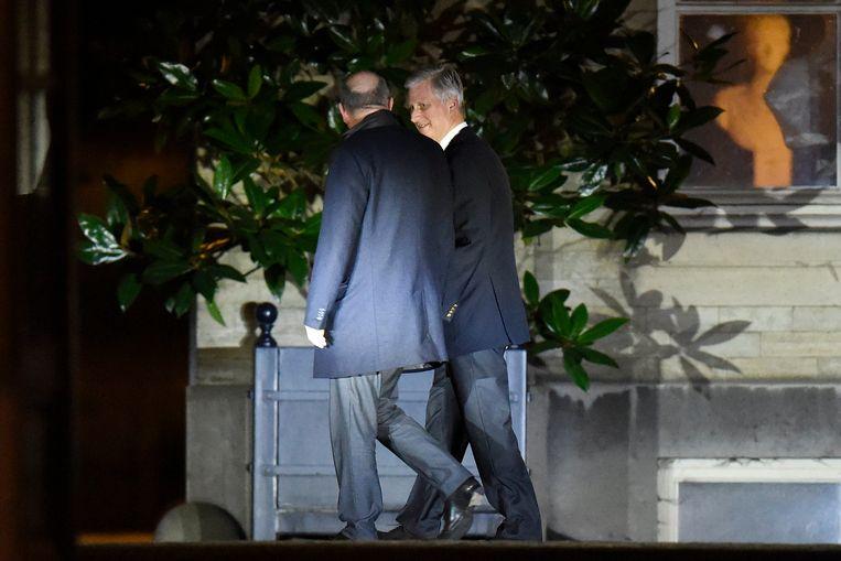 Koen Geens is vanavond ontvangen door koning Filip. Beeld Photo News