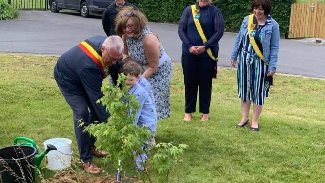 Ierse ambassadeur en burgemeester planten boom om 15 jaar Peace Village te gedenken