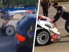 Rallycoureur Ogier verliest koppositie na aanrijding op openbare weg én negeert vervolgens politie