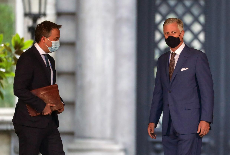 Koning Filip wees Egbert Lachaert aan als een van de twee preformateurs. Beeld EPA