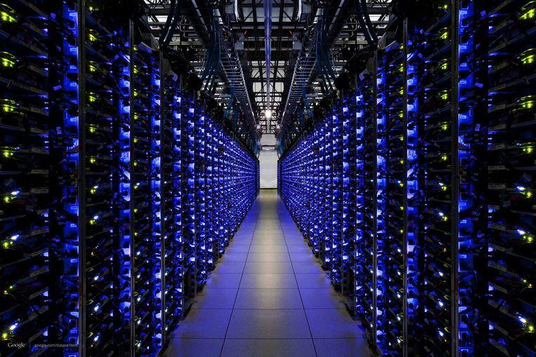 Het datacentrum van Google in de Amerikaanse staat Georgia. Beeld EPA