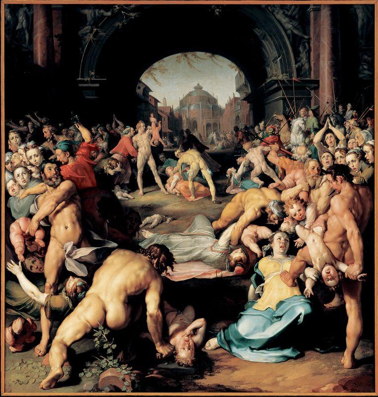 De kindermoord in Bethlehem (1590), geschilderd door Cornelis Cornelisz. van Haarlem. Beeld Cornelisz. Van Haarlem