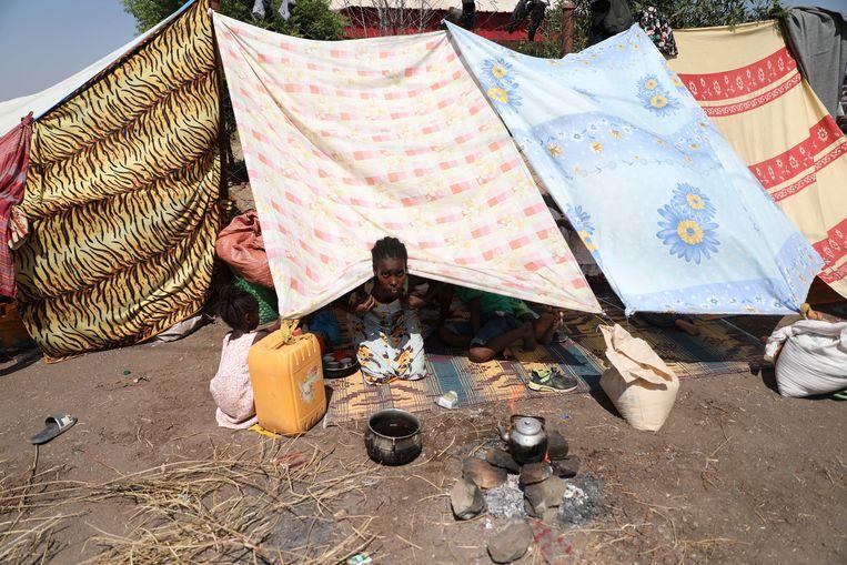 Een meisje uit Ethiopië in een vluchtelingenkamp in Soedan. Beeld AP