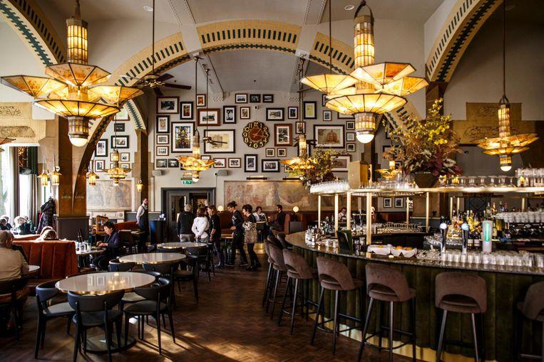 De opknapbeurt van Café Américain is onlangs afgerond Beeld Carly Wollaert