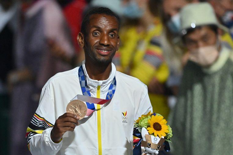 'De medaille van Bashir hangt op de kamer van de kinderen. Het is voor hen dat hij die heeft behaald.' Beeld BELGA