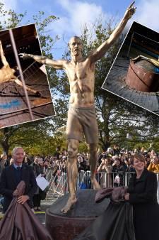 Standbeeld van Zlatan compleet gesloopt