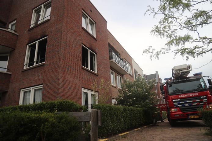 Brand in de Weidestraat in Leidschendam.
