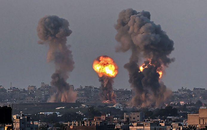 Israëlische bombardementen op Gaza.