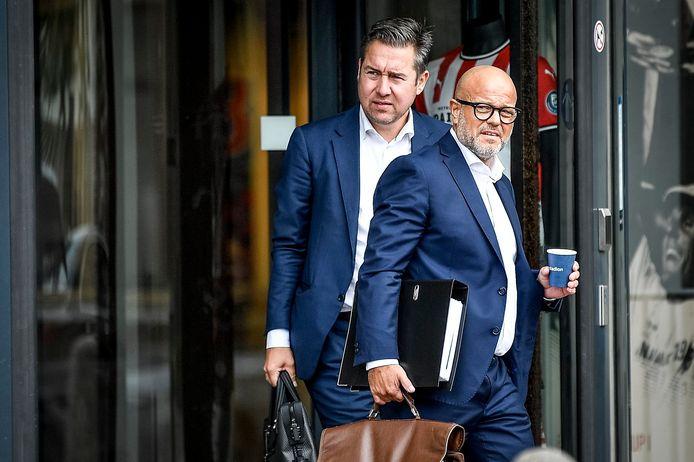 Club-voorzitter Bart Verhaeghe en CEO Vincent Mannaert blijven ook na de beursgang op post.