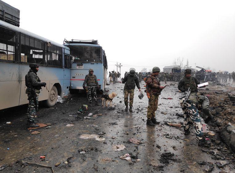 Bij de bomaanslag in Kasjmir op 14 februari, in het zuiden van het land, vielen veertig doden.