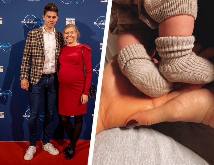 Wout van Aert et sa femme Sarah De Bie ont annoncé la naissance de Georges