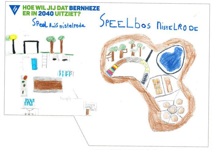 Kindertekeningen voor de omgevingsvisie Bernheze.