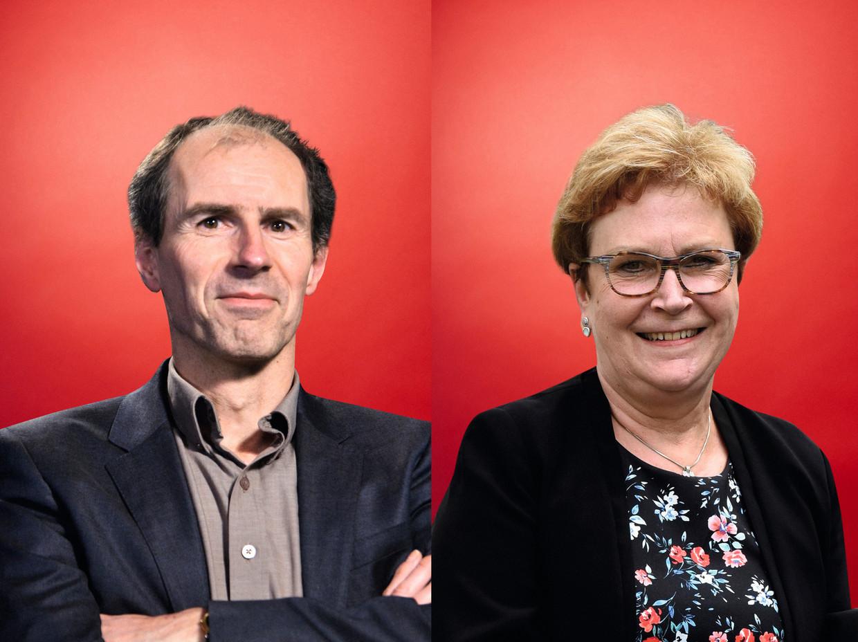 Guido Van Limberghen  en Ria Janvier. Beeld rv