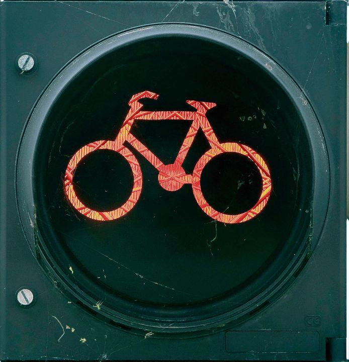 Stoplicht voor fietsers.