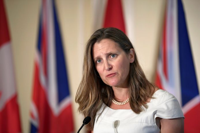 De Canadese minister van Buitenlandse Zaken Chrystia Freeland.