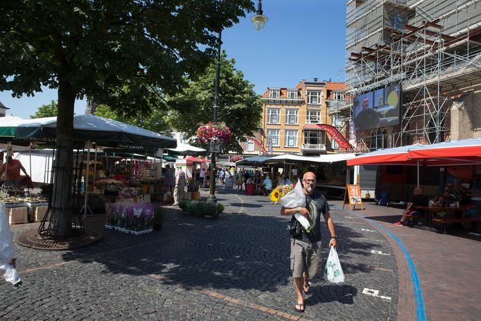 De Markt in Winterswijk waar het bevrijdingsfeest zou worden gehouden. Archieffoto: Theo Kock