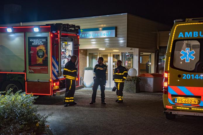 Brandweer en ambulance bij de Torentjeshoef.